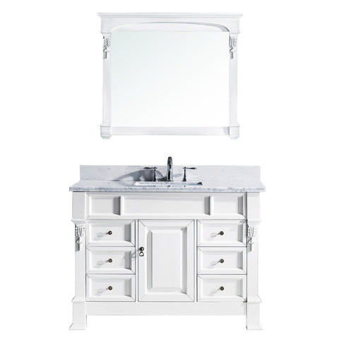 "Image of 48"" Single Bathroom Vanity MS-2948-WMSQ-WH"