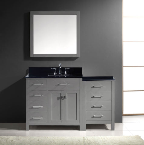 "Image of 57"" Single Bathroom Vanity MS-2157L-BGRO-ES"