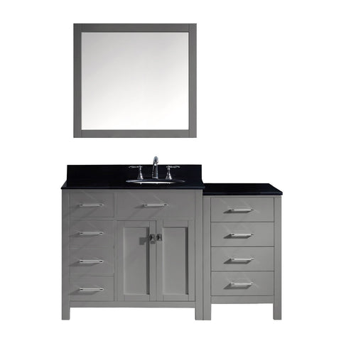 "Image of 57"" Single Bathroom Vanity MS-2157L-BGRO-GR"