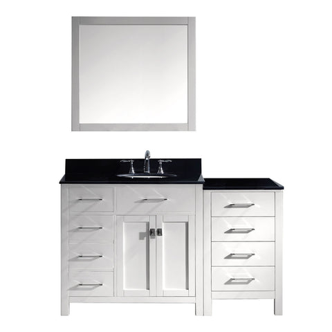 "Image of 57"" Single Bathroom Vanity MS-2157L-BGRO-WH"
