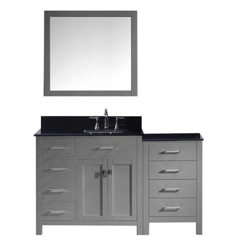 "Image of 57"" Single Bathroom Vanity MS-2157L-BGSQ-GR"