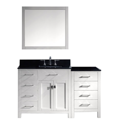 "Image of 57"" Single Bathroom Vanity MS-2157L-BGSQ-WH"