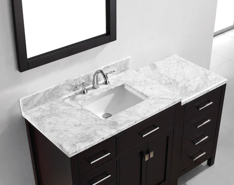 "Image of 57"" Single Bathroom Vanity MS-2157L-WMRO-ES"