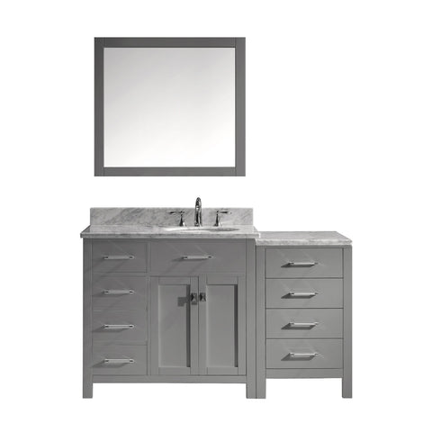 "Image of 57"" Single Bathroom Vanity MS-2157L-WMRO-GR"