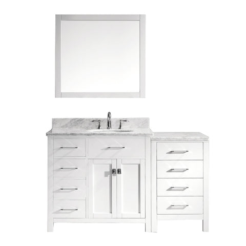 "Image of 57"" Single Bathroom Vanity MS-2157L-WMRO-WH"