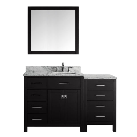 "Image of 57"" Single Bathroom Vanity MS-2157L-WMSQ-ES"