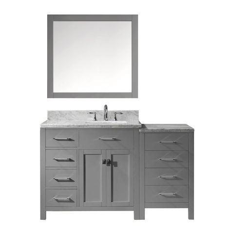 "Image of 57"" Single Bathroom Vanity MS-2157L-WMSQ-GR"