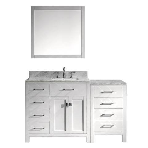 "Image of 57"" Single Bathroom Vanity MS-2157L-WMSQ-WH"