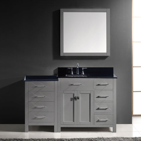 "Image of 57"" Single Bathroom Vanity MS-2157R-BGRO-ES"