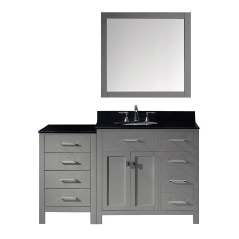 "Image of 57"" Single Bathroom Vanity MS-2157R-BGRO-GR"