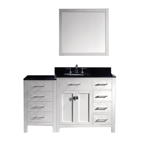"Image of 57"" Single Bathroom Vanity MS-2157R-BGRO-WH"