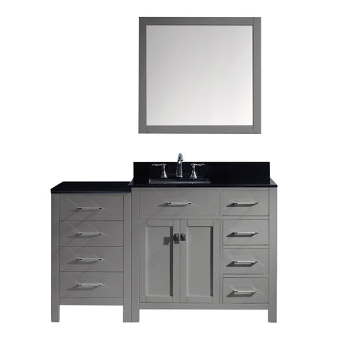 "Image of 57"" Single Bathroom Vanity MS-2157R-BGSQ-GR"