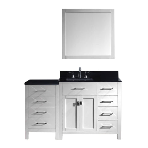 "Image of 57"" Single Bathroom Vanity MS-2157R-BGSQ-WH"