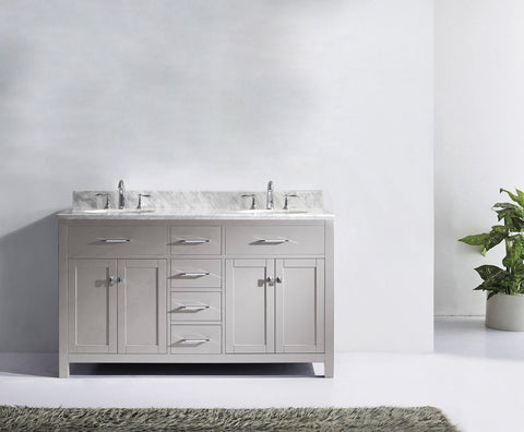 "60"" Double Bathroom Vanity MD-2060-WMRO-CG"