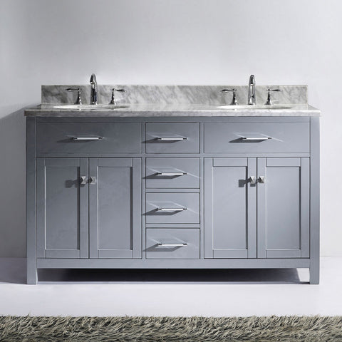 "Image of 60"" Double Bathroom Vanity MD-2060-WMRO-CG"