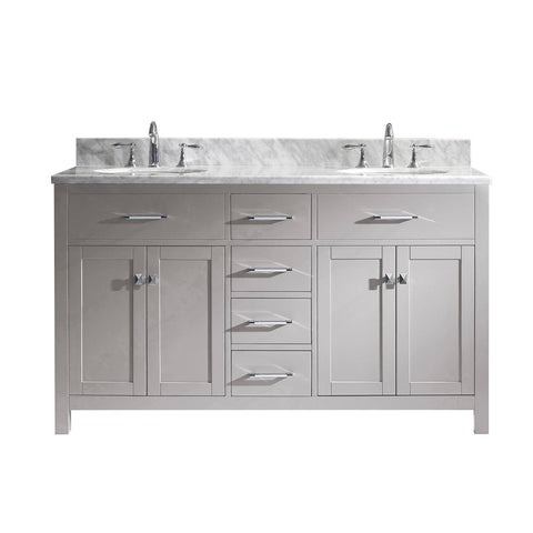 "Image of 60"" Double Bathroom Vanity MD-2060-WMRO-CG-NM"