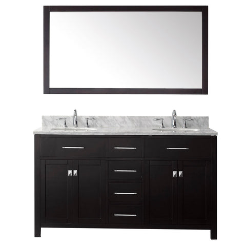 "Image of 60"" Double Bathroom Vanity MD-2060-WMRO-ES"
