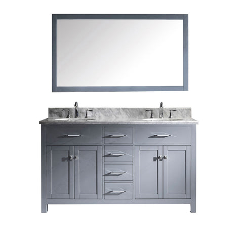 "Image of 60"" Double Bathroom Vanity MD-2060-WMRO-GR"