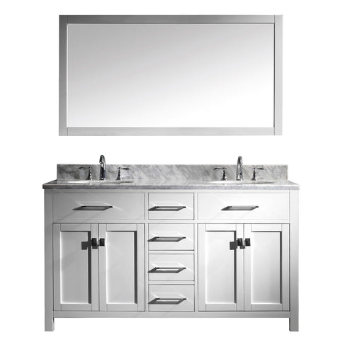 "60"" Double Bathroom Vanity MD-2060-WMRO-WH"