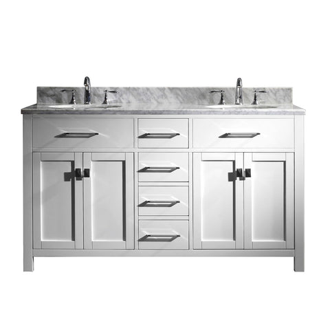 "Image of 60"" Double Bathroom Vanity MD-2060-WMRO-WH-NM"