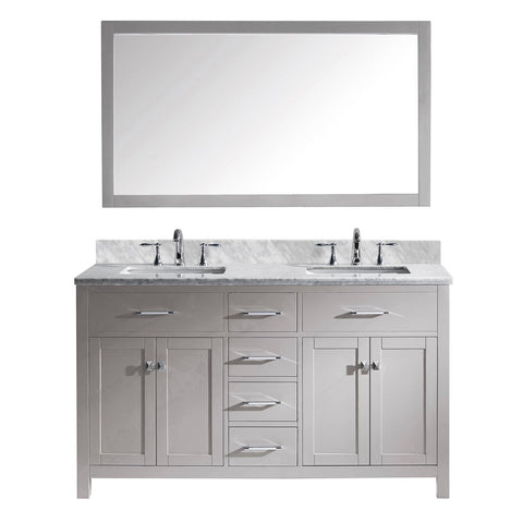 "Image of 60"" Double Bathroom Vanity MD-2060-WMSQ-CG"