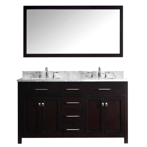 "Image of 60"" Double Bathroom Vanity MD-2060-WMSQ-ES"