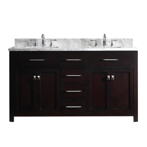 "Image of 60"" Double Bathroom Vanity MD-2060-WMSQ-ES-NM"