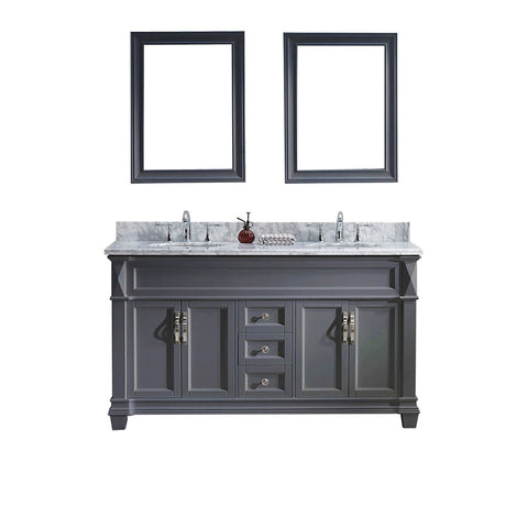 "60"" Double Bathroom Vanity MD-2660-WMRO-GR"