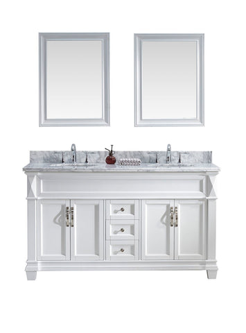 "60"" Double Bathroom Vanity MD-2660-WMRO-WH"