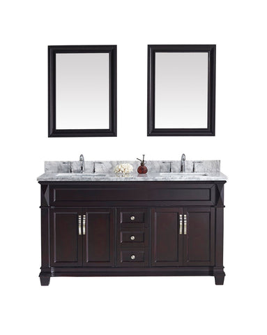"60"" Double Bathroom Vanity MD-2660-WMSQ-ES"