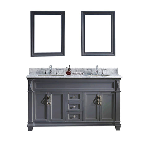 "60"" Double Bathroom Vanity MD-2660-WMSQ-GR"