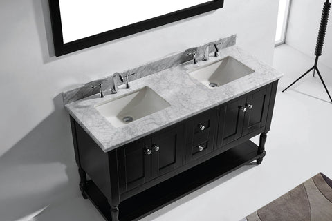 "Image of 60"" Double Bathroom Vanity MD-3160-WMRO-CG"