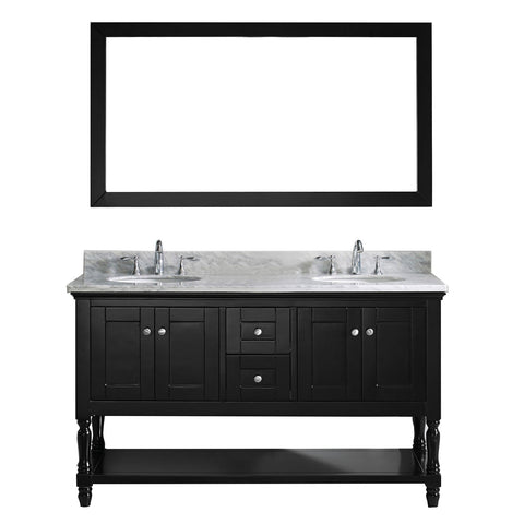 "60"" Double Bathroom Vanity MD-3160-WMRO-ES"