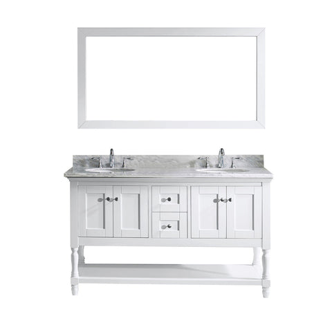 "60"" Double Bathroom Vanity MD-3160-WMRO-WH"