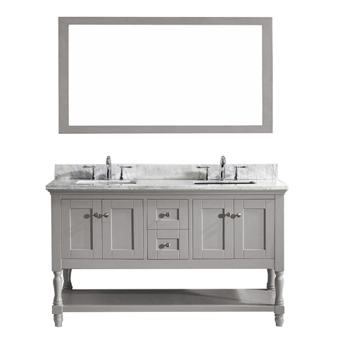 "Image of 60"" Double Bathroom Vanity MD-3160-WMSQ-CG"