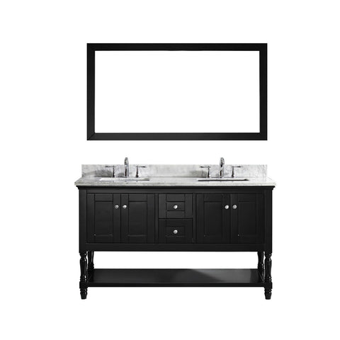 "Image of 60"" Double Bathroom Vanity MD-3160-WMSQ-ES"