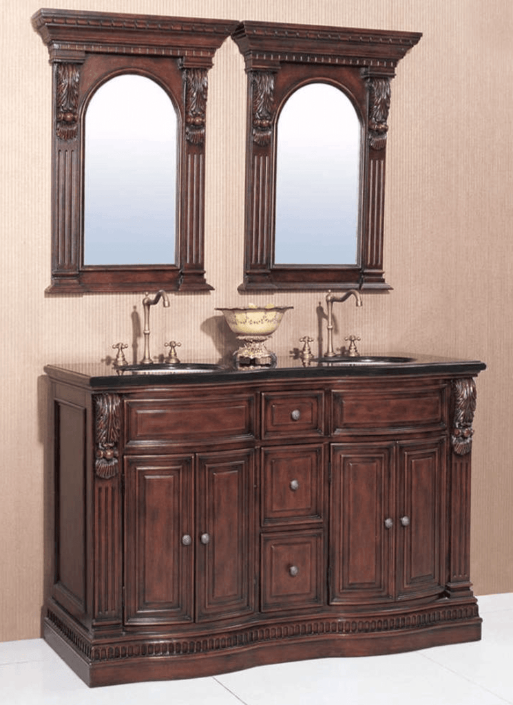 "60"" DOUBLE SINK CHEST - NO FAUCET  - 3CM TOP-BACKSPLASH AVALIBLE P5441-03A-C-3"