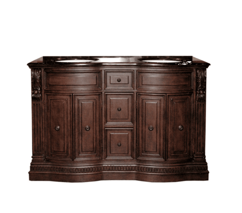 "Image of 60"" DOUBLE SINK CHEST - NO FAUCET  - 3CM TOP-BACKSPLASH AVALIBLE P5441-03A-C-3"
