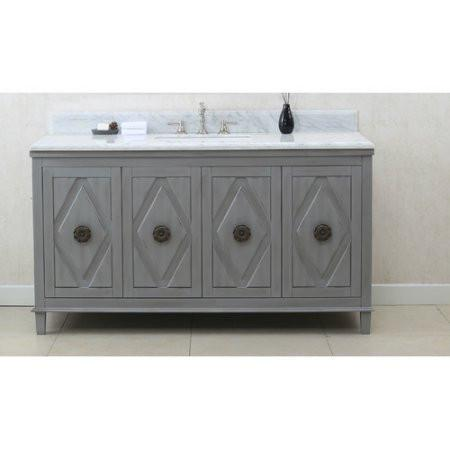 "60"" GRAY SINK VANITY CABINET MATCH WITH WLF6036-61 TOP, NO FAUCET WLF7036-60"