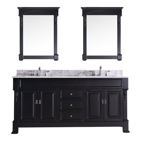 "72"" Double Bathroom Vanity GD-4072-WMSQ-DW"