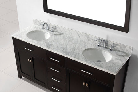 "Image of 72"" Double Bathroom Vanity MD-2072-WMRO-CG"