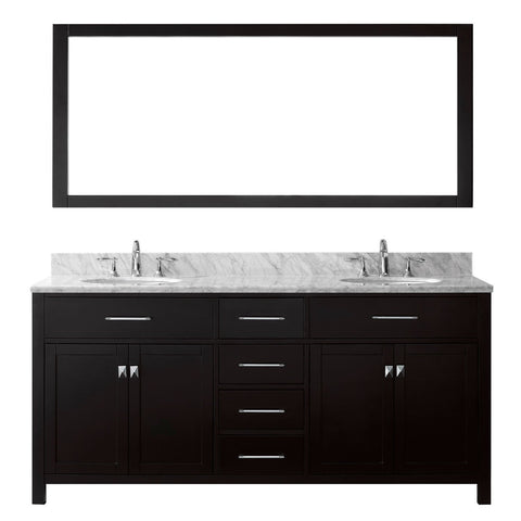"Image of 72"" Double Bathroom Vanity MD-2072-WMRO-ES"
