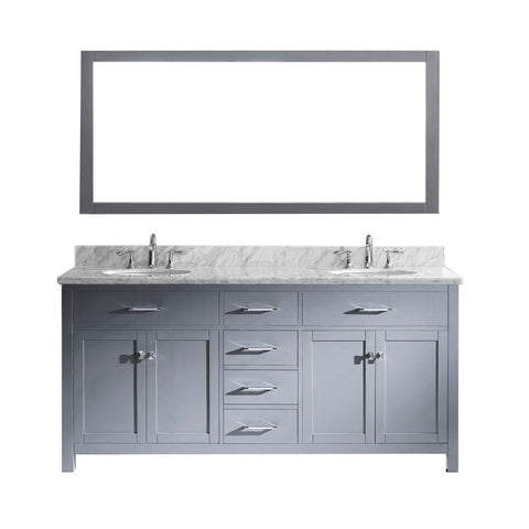 "Image of 72"" Double Bathroom Vanity MD-2072-WMRO-GR"