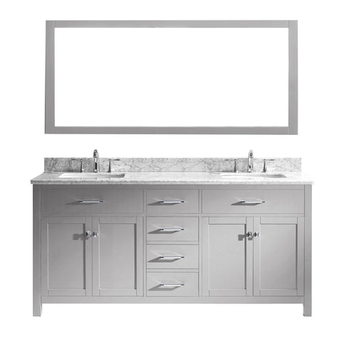 "72"" Double Bathroom Vanity MD-2072-WMSQ-CG"