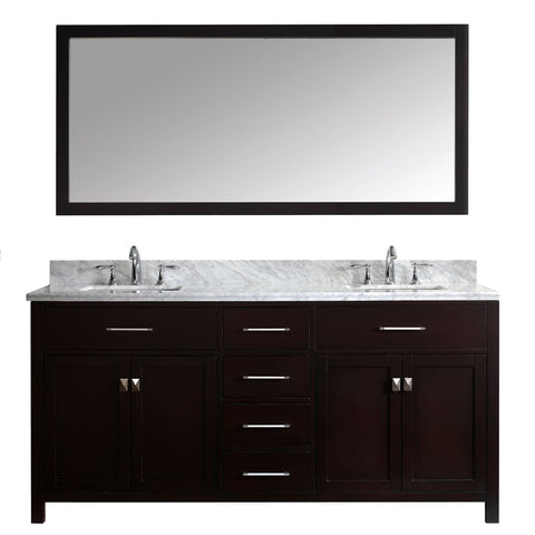 "72"" Double Bathroom Vanity MD-2072-WMSQ-ES"