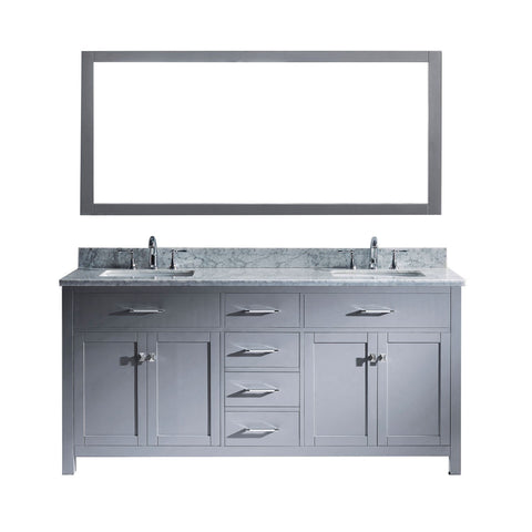 "72"" Double Bathroom Vanity MD-2072-WMSQ-GR"