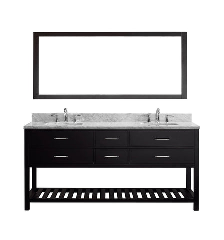 "72"" Double Bathroom Vanity MD-2272-WMSQ-ES-010"