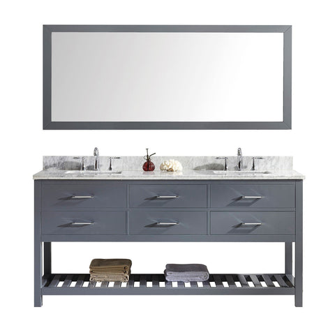 "72"" Double Bathroom Vanity MD-2272-WMSQ-GR-010"