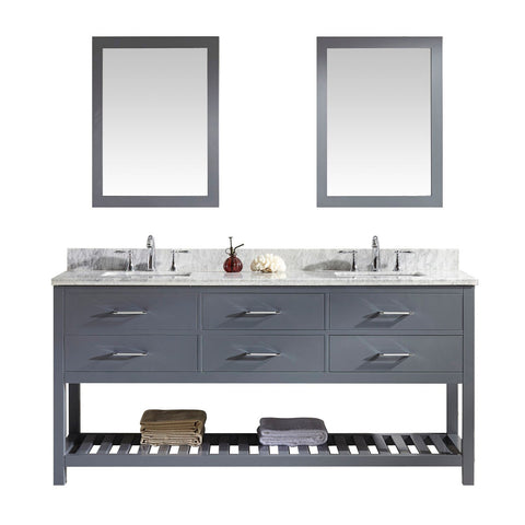 "72"" Double Bathroom Vanity MD-2272-WMSQ-GR"