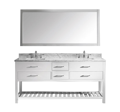 "72"" Double Bathroom Vanity MD-2272-WMSQ-WH-010"